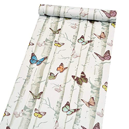 Creative Decorative Butterfly Contact Paper Self Adhesive Vinyl Shelf Drawer Liner Removable Wallpaper for Cabinets Backsplash Countertop Dresser Wall Arts and Crafts Decor 17.7x78.7 Inches
