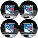 Rangers Hockey Rubber Round Coaster set (4 pack) Great Gift Idea New York