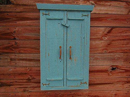 Distressed Bathroom Medicine Cabinet, Turquoise Blue Spice essential oil -