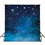 Kate 10x10ft(3x3m) Evening Blue Sky Photography Backdrops No Wrinkles Fantasy Stars Background For Children Birthday Photo Studio