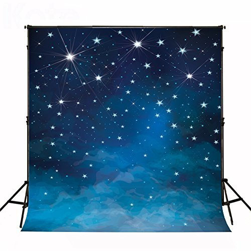 Kate 10x10ft(3x3m) Evening Blue Sky Photography Backdrops No Wrinkles Fantasy Stars Background For Children Birthday Photo Studio by Kate