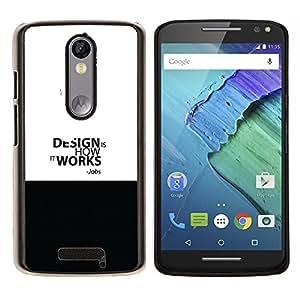 Qstar Arte & diseño plástico duro Fundas Cover Cubre Hard Case Cover para Motorola Droid Turbo 2 / Moto X Force (Diseño Trabajo - Empleos Cita)