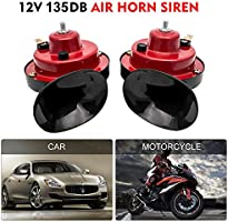 Motorcycles and Trucks 130DB Compact Twin Snail Air Horn Super Loud for Any 12V Cars HK Compact Car Horn