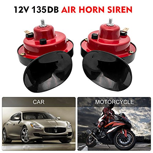 Auto Car Vehicle Horn with Bracket Universal 12V 135DB Loud Dual-Tone Electric Snail Air Horn Siren for Cars Truck Motorcycle Boat (1 Pair) by Lak-sen (Image #4)