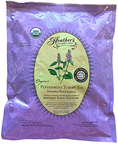 (Peppermint Tea POUCH for Irritable Bowel Syndrome ~ Heather's Tummy Teas Loose Organic Peppermint Tea (16 oz. Bulk Pouch))