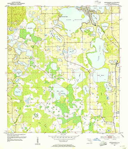 YellowMaps Windermere FL topo map, 1:24000 Scale, 7.5 X 7.5 Minute, Historical, 1953, Updated 1955, 26.8 x 22.9 in - Polypropylene