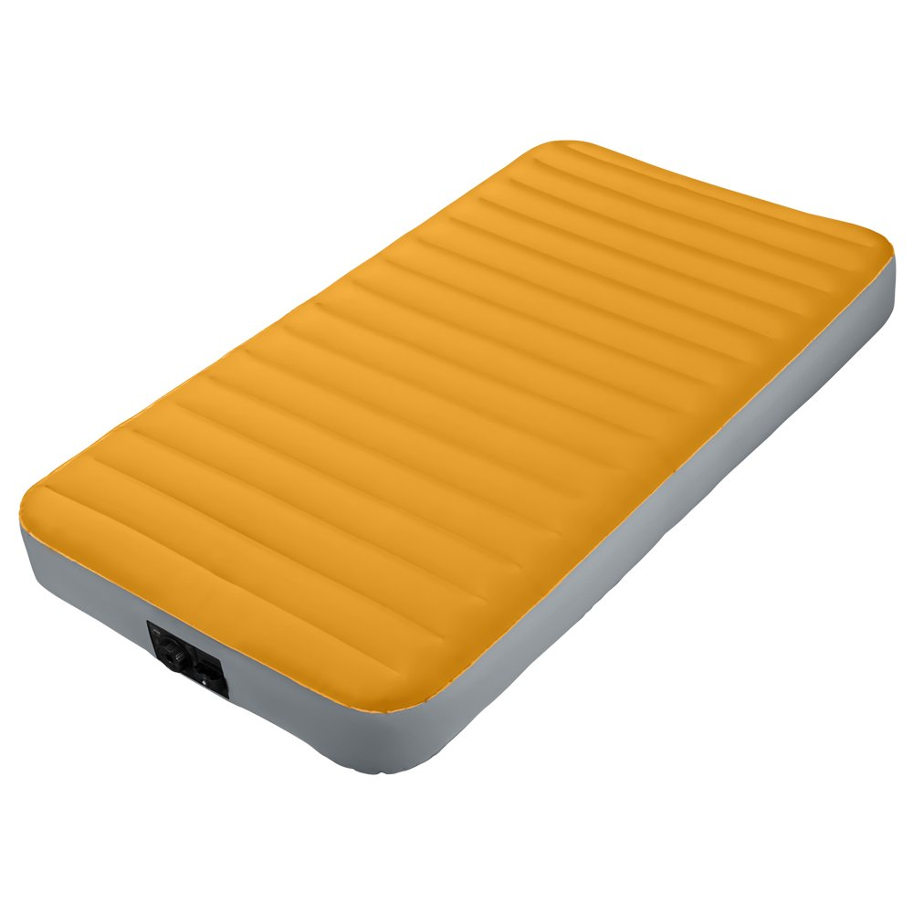 Intex Fiber-Tech Materasso Camping Singolo Fibertech con Pompa a Batterie Cm 99X191X20 306, PVC, Multicolore, 80 x 190 cm Prezzi offerte