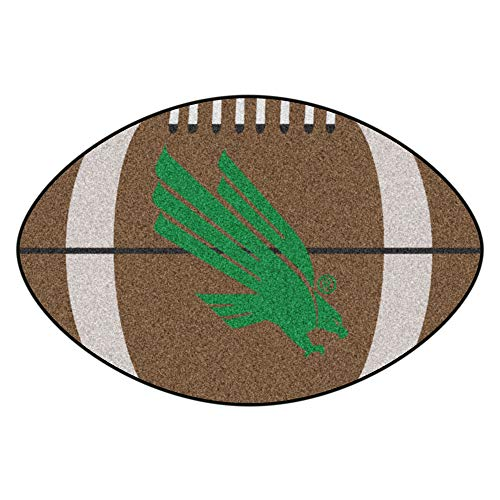 NCAA University of North Texas Mean Green Football Shaped Mat Area ()