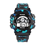 BCDshop Outdoor Multifunction Waterproof Kids Boys Sports Electronic Watches Watch Child Wrist Watches (Black, Alloy)