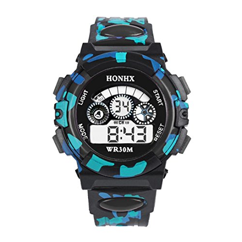 BCDshop Outdoor Multifunction Waterproof Kids Boys Sports Electronic Watches Watch Child Wrist Watches (Black, Alloy) by BCDshop (Image #1)