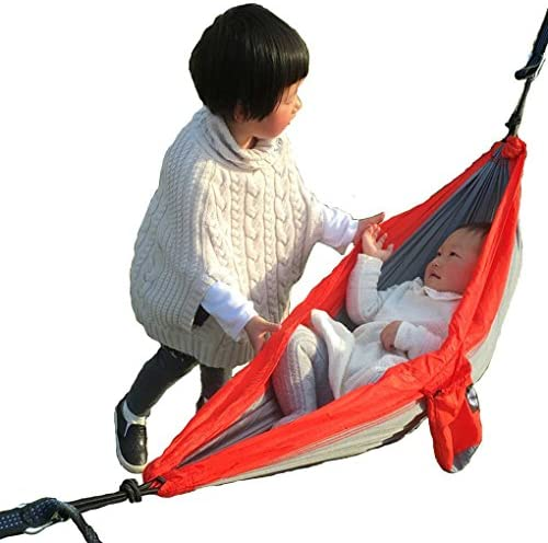MoDaBB Rip Stop Nylon Parachute Camping Hammock Variety Size for Infant Toddler Teenage,Included 2 Carabiners and Ropes