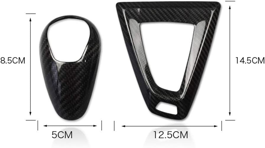 AIRSPEED Carbon Fiber Gear Shift Knob Cover Trim for BMW M2 M3 M4 Black 2014-2018