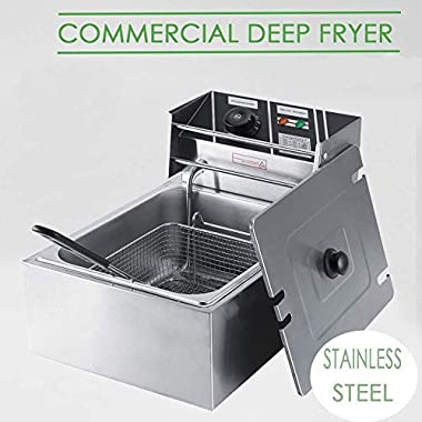 FROTH & FLAVOR Stainless Steel Electric Deep Fryer (Silver) 6 Litre with Copper Element 11