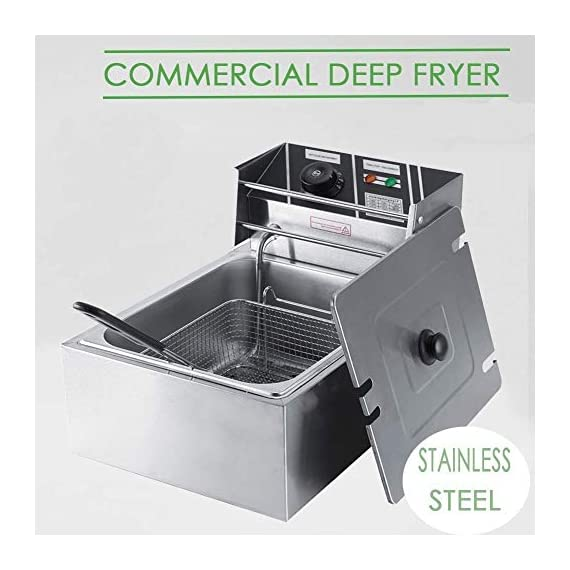 FROTH & FLAVOR Stainless Steel Electric Deep Fryer (Silver) 6 Litre with Copper Element 4