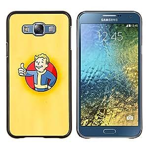 TECHCASE---Cubierta de la caja de protección para la piel dura ** Samsung Galaxy E7 E700 ** --Bóveda Boy Póster