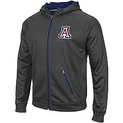 Mens NCAA Arizona Wildcats Full-zip Hoodie (Charcoal) - 2XL
