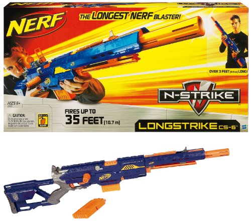 Nerf N-Strike Longstrike CS-6 Dart Blaster (Discontinued by manufacturer) by Nerf