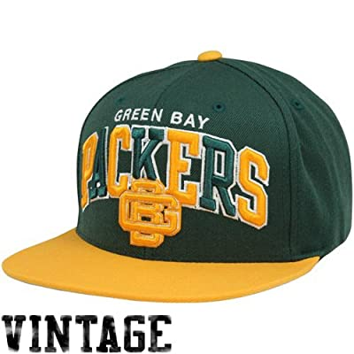 NFL Mitchell & Ness Green Bay Packers Tri-Pop Snapback Adjustable Hat - Green/Gold by Mitchell & Ness