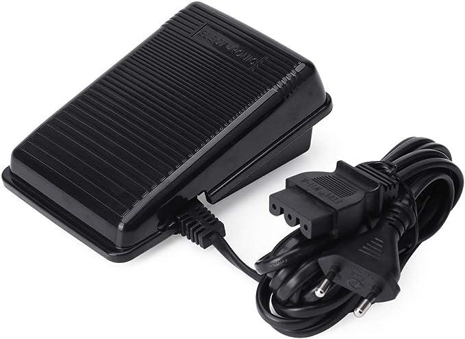 Controlador de pedal de máquina de coser para Singer, pedal de control electrónico con cable, controlador de velocidad variable de pedal de interruptor de pedal de máquina de coser universal
