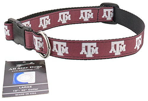 Texas A&M Aggies Ribbon Dog Collar - Medium