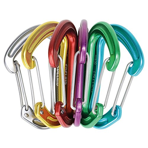 EDELRID - Nineteen G Carabiners, 6-Pack, Assorted by EDELRID