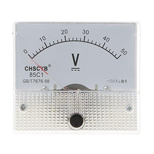 Cutebility Gauge DC 0-50V Analog Panel Meter Voltage Volt Meter Voltmeter 85C1 Detect Test Ammeter Voltmeter Multimeter: