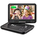 """Electronics : DR.J 5 Hours 10.5"""" Swivel Screen Portable DVD Player with Built-in Rechargeable Battery and USB/SD Card Reader, 5.9ft/1.8M Car Charger & Battery Adapter"""