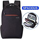 Lapacker Lightweight Travel Business Laptop Backpack for Women Men, Water Resistant Anti Theft Slim Computer Backpacks Up To 15.6 Inch Laptops Black