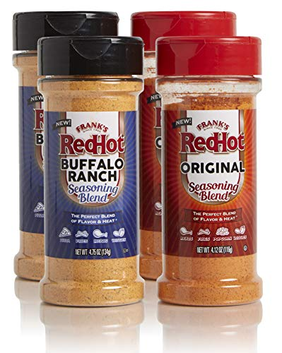Frank's RedHot Seasoning Blends Original & Buffalo Ranch Variety Pack, 4.12oz and 4.75oz (Pack of - Seasoning Hot Sauce
