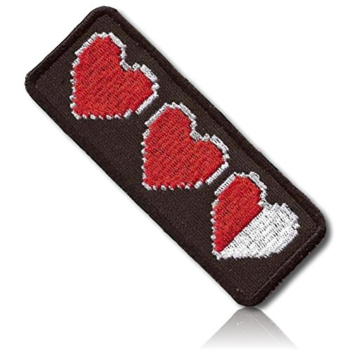 Red Polyester Appliques Heart ([1 Count Single] Custom and Unique (1 1/2