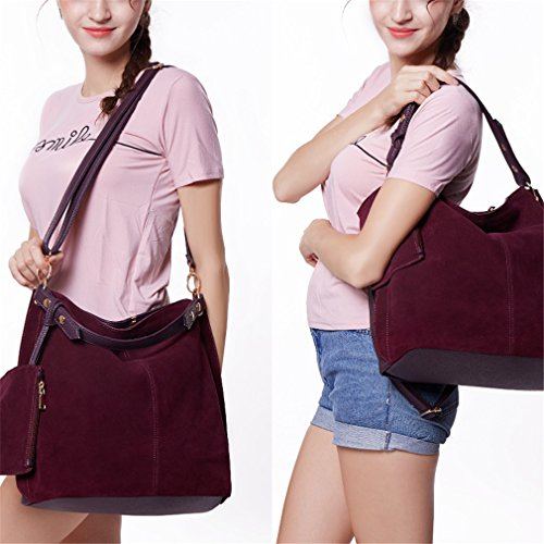 Bags Easygill Travel Large Casual Purple Leisure Wallet With Shoulder Handbag Women Dark T6f1qI