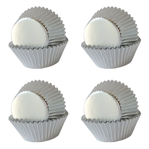 SophieBella Silver-Foil Cupcake-Liners Paper-Baking-Cups Holiday,400 pcs,Regular Size