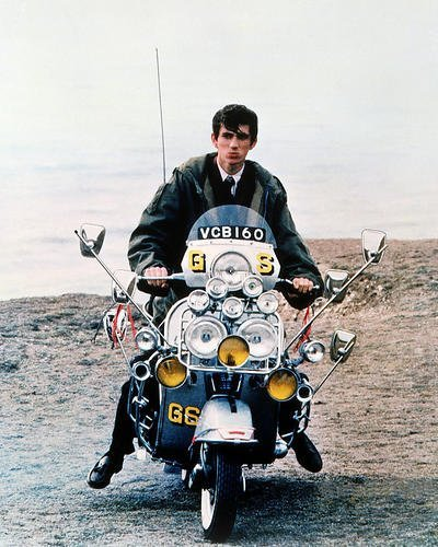 Phil Daniels Seated On Lambretta Scooter Quadrophenia 11x14 HD Aluminum Wall -