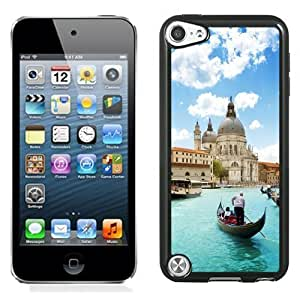 NEW Unique Custom Designed iPod Touch 5 Phone Case With Venice Dome Gondola Light Blue Water_Black Phone Case