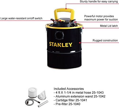 Stanley Ash Vac, 4 Gallon, 4 Horsepower by Stanley (Image #3)