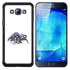 """Be-Star Único Patrón Plástico Duro Fundas Cover Cubre Hard Case Cover Para Samsung Galaxy A8 / SM-A800 ( Dibujo Dragón gris mítico Arte Salvaje"""" )"""