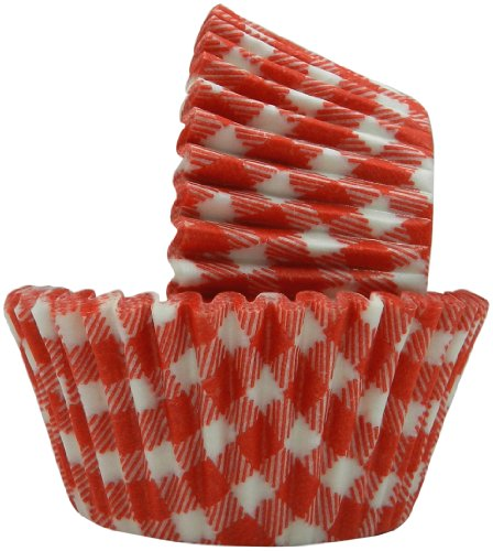 Regency Wraps Greaseproof Baking Cups, Red Gingham, 40-Count, Standard.