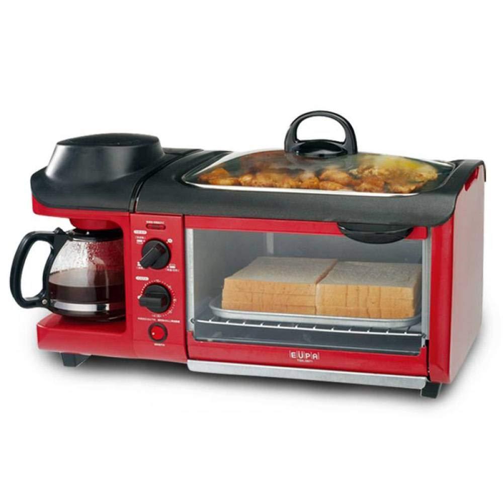 BBG Breakfast Machine, Home Oven, Bread Machine, teppanyaki Three-in-one,red,One Size by BBG (Image #1)