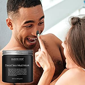 Majestic Pure Natural Dead Sea Mud Mask, Gentle Facial Mask, Removing Impurities - 8.8 fl. Oz