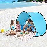 Walmeck Instant Pop Up Tent Baby Beach Tent Cabana Portable Anti UV Sun