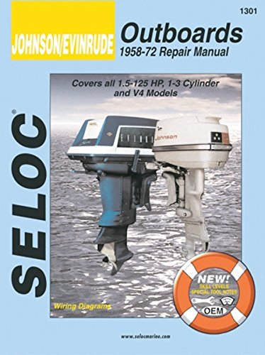 Johnson/Evinrude Outboards 1958 - 72: 1.5-125 Hp, 1-3 Cylinder & V4 Models - Johnson Outboard Motor Service Manual