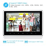 NAVISKAUTO-101-Inch-HD-1080P-Headrest-Monitor-LCD-Wide-Screen-Ultra-thin-Car-Headrest-USBSDHDMI-Player-with-Remote-NOT-DVD-PLAYER-CH1006B
