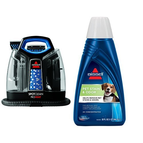 Pet Stain Remover Bundle   Spotclean Proheat Portable Spot Cleaner   Bissell 2X Pet Stain And Odor Portable Machine Formula  32 Oz