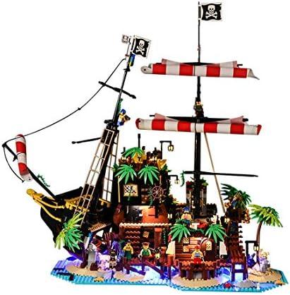 Ersatz Segel Set für LEGO® Schiff 21322 Pirates of Barracuda Bay Weiß