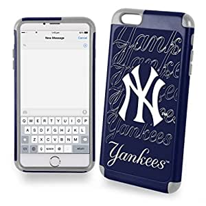 Wishing Dream Wireless New York Yankees Dual Hybrid Case for iPhone 6 Plus - Retail Packaging - White/Blue