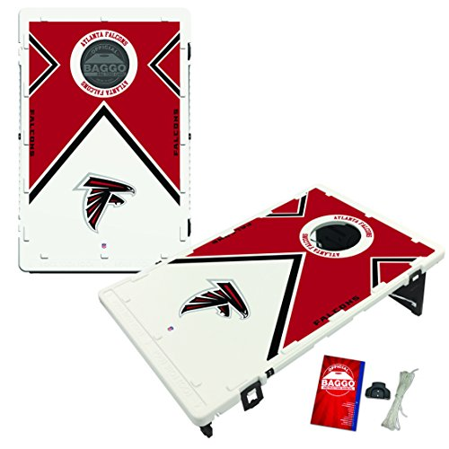 NFL Atlanta Falcons Baggo Portable All-Weather Vintage Cornhole Boards Game Set, One Size, Team Color