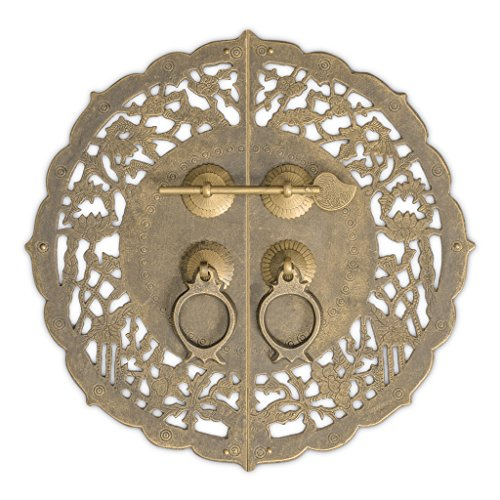 China Flower Pot Cabinet Face Plate 9-3/4'' by Chinese Brass Hardware