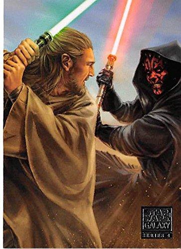 Darth Maul fight Qui Gon Jinn trading card Star Wars Galaxy 2009 Topps #434 69 Liam Neeson from Autograph Warehouse