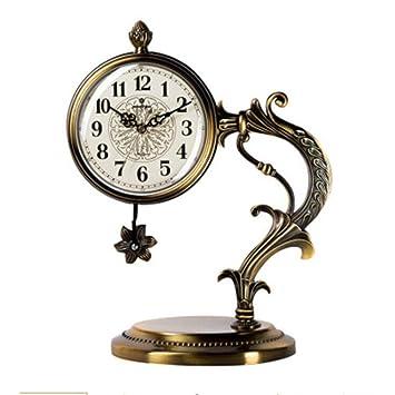 CWLLWC Reloj De Metal Artesanias Reloj Decoracion Salon Moda ...