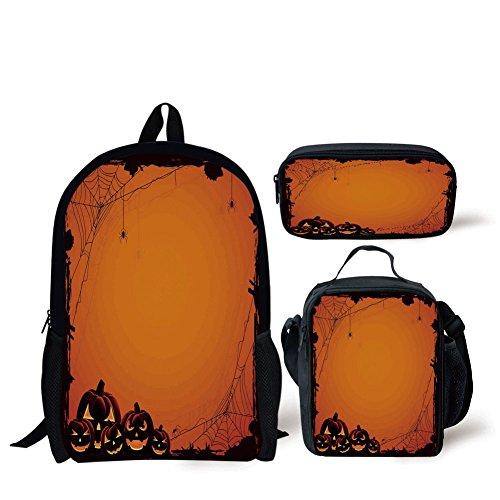 iPrint School Lunch Pen Bags,Halloween Decorations,Grunge Spider Web
